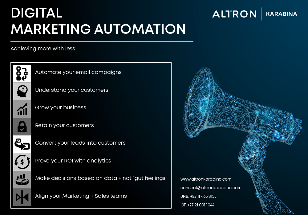 Altron Karabina Digital Marketing Automation Infographic