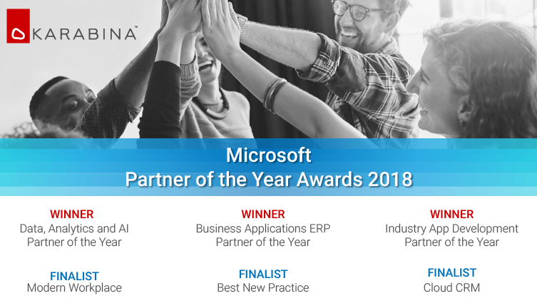 microsoft partner award 2018 wins i data analytics ai erp
